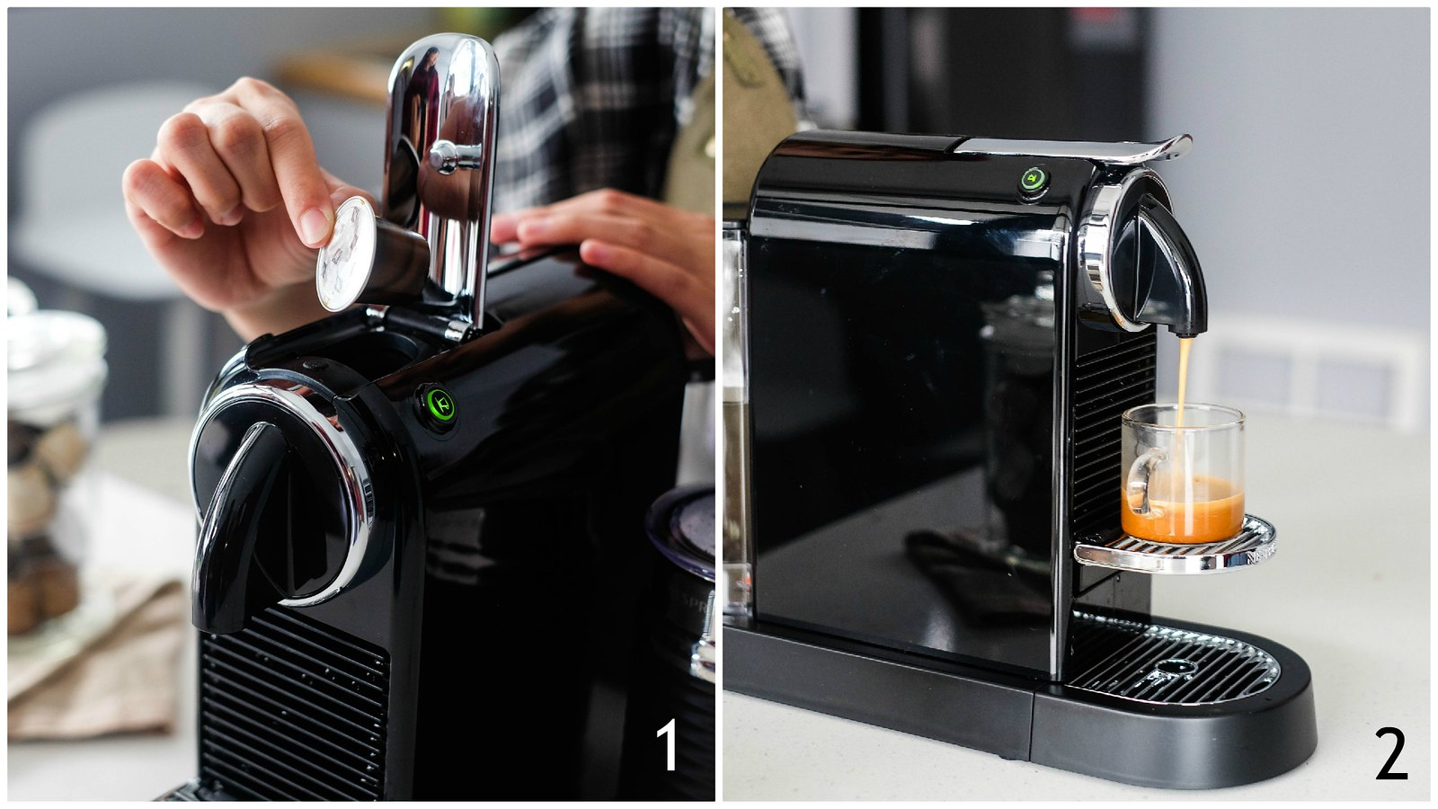 How to use a Nespresso to make Piccolo Latte 1