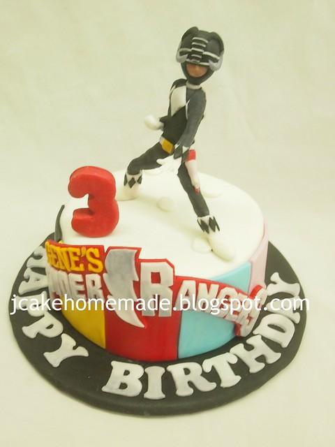 Black Ranger Birthday Cake 黑色游侠蛋糕