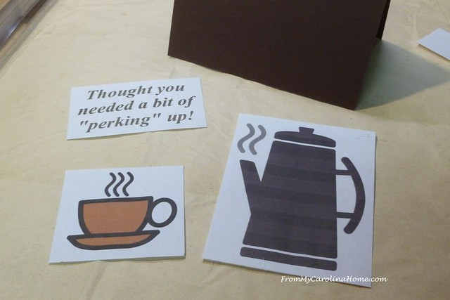 Coffee Theme Card at FromMyCarolinaHome.com