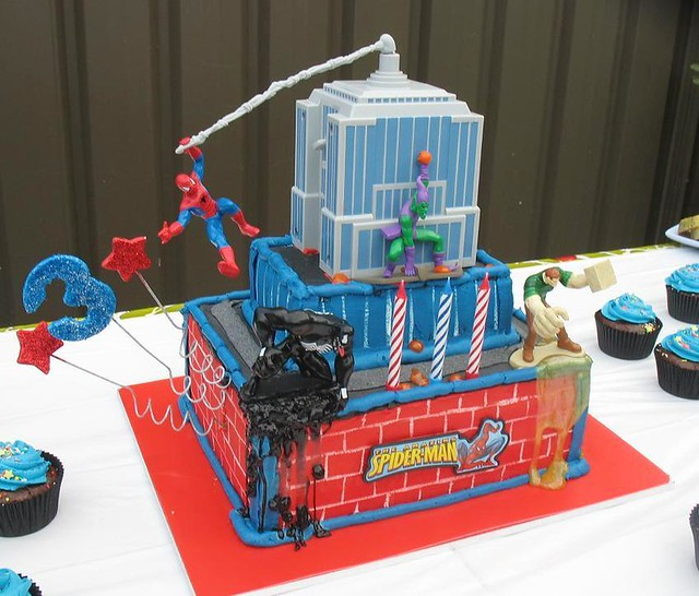 Spiderman Birthday Cake by Hollywood Cakes
