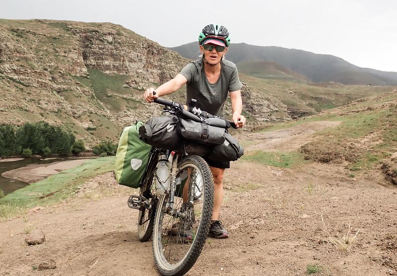 Pedalant per Lesoto.