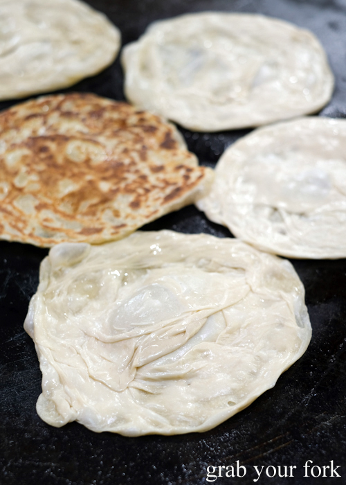 Paratha roti at the Ramadan Night Market in Lakemba Sydney