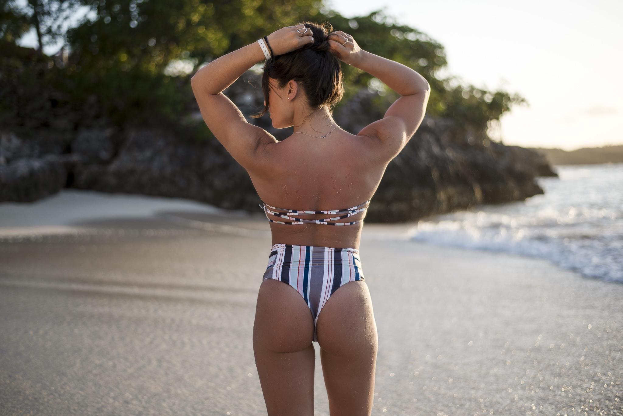 camille dg bikini taille haute cuba plage