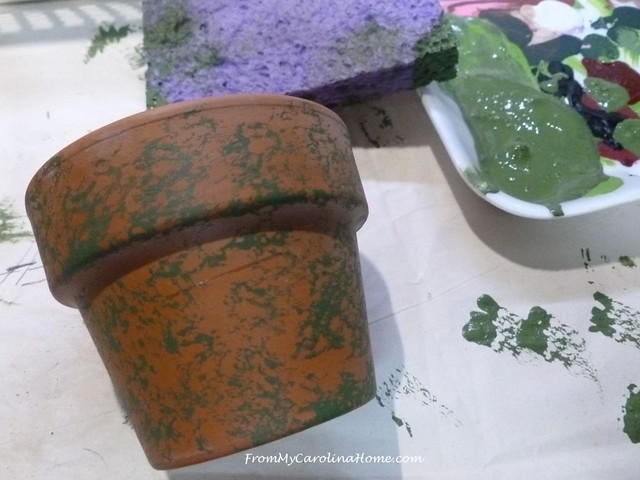 Mossy Planters at FromMyCarolinaHome.com