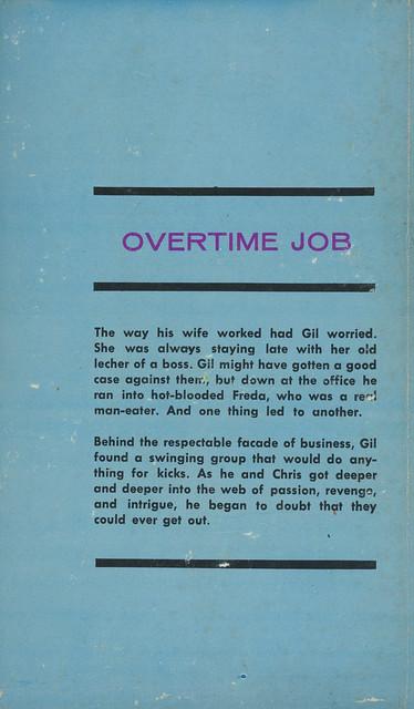 In Library Books 208 - Vic Ellis - Overtime Job (back)