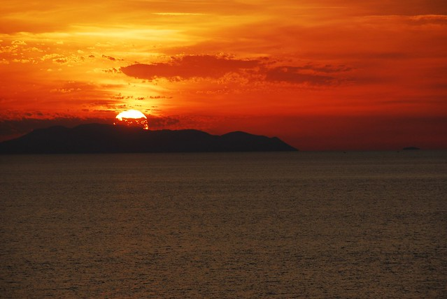Sunset over Aeolian Islands