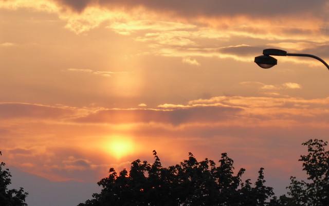 yesterday's sunset in Prague