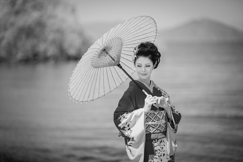 Kimono beauty of Lake Biwa
