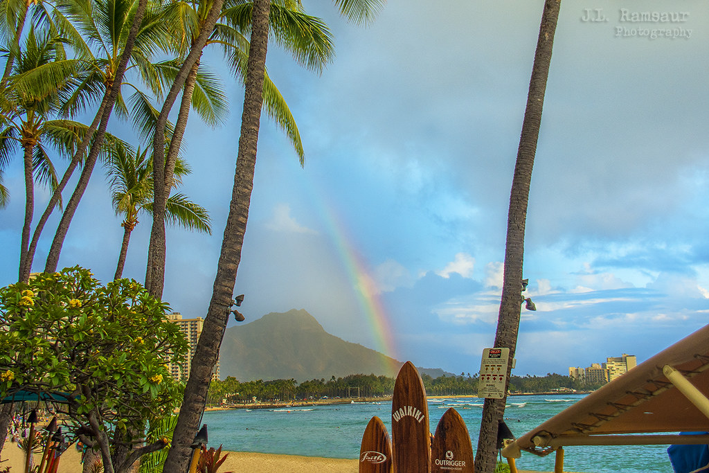 Rainbow Over Waikiki Beach Honolulu Oahu Hawaii Flickr