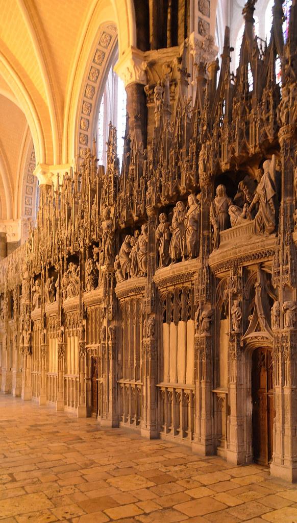 Chartres (Eure-et-Loir) - Cathédrale Notre-Dame - Clôture du choeur (coté nord)