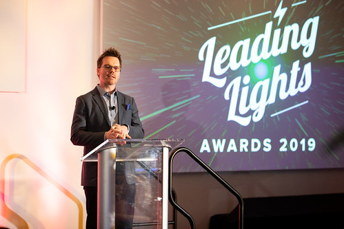 Light Reading's Phil Harvey at the Leading Lights Awards 2019 in Denver.