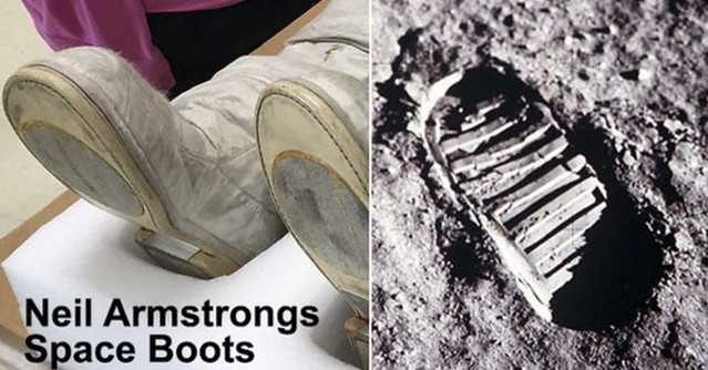 Moon footprint anomaly does not match Neil Armstrongs spacesuit