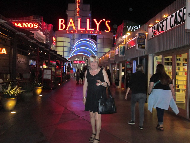 Sunday evening arriving at Bally's