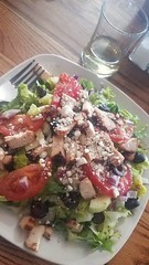 Greek Salad with chicken  Front Range Brewing  Lafayette CO