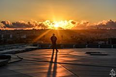 Coucher de soleil sur le chantier de la Grande Mosquée d'Alger