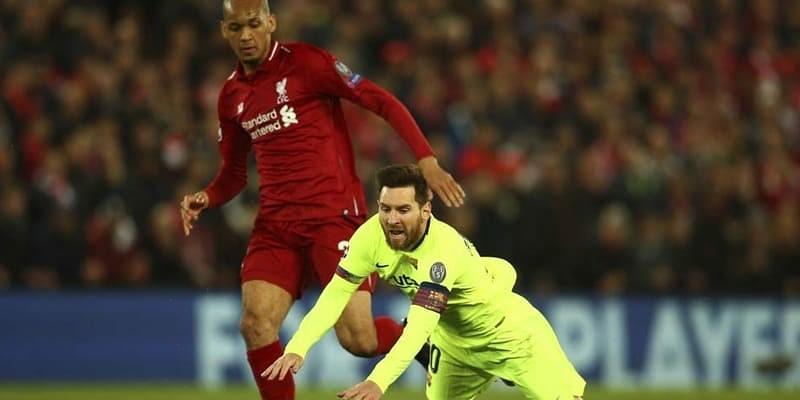 Fabinho Sukses Menjadi Juru Kunci Penghadang Messi