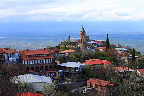 georgia sighnaghi signagi view panorama landscape village town kakheti houses