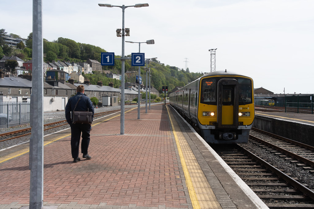 THERE IS A TRAIN EVERY HALF HOUR FROM KENT STATION TO COBH 007