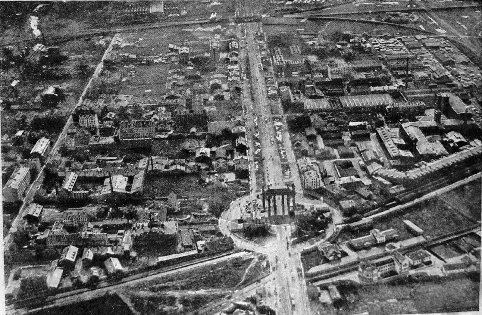Полёт на аэростате Василий Корн 8 сентября 1913. Московская застава-Триумфальная арка-Забалканский проспект