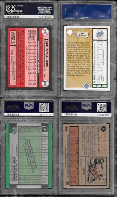 Star/HOF Graded RC Singles - Brett, Jeter, Bo Jackson, Griffey