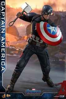 「隱藏配件公開!」經典圓盾回歸! Hot Toys - MMS536 -《復仇者聯盟:終局之戰》美國隊長 Captain America 1/6 比例人偶作品
