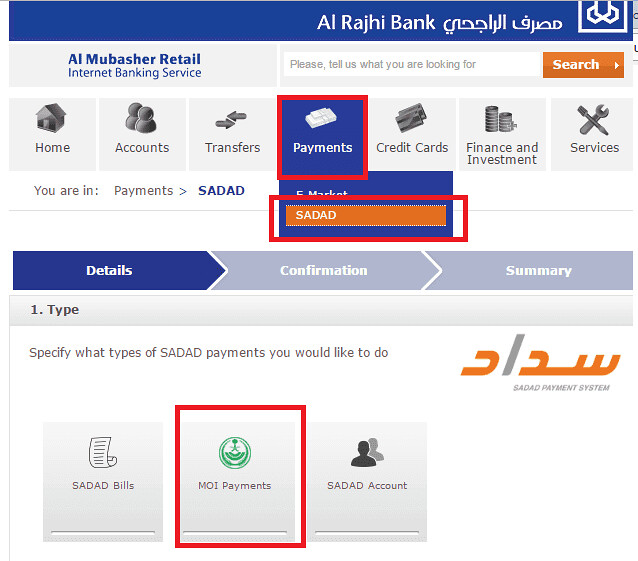 3144 Payment of fee to Renew Iqama in Saudi Arabia 01