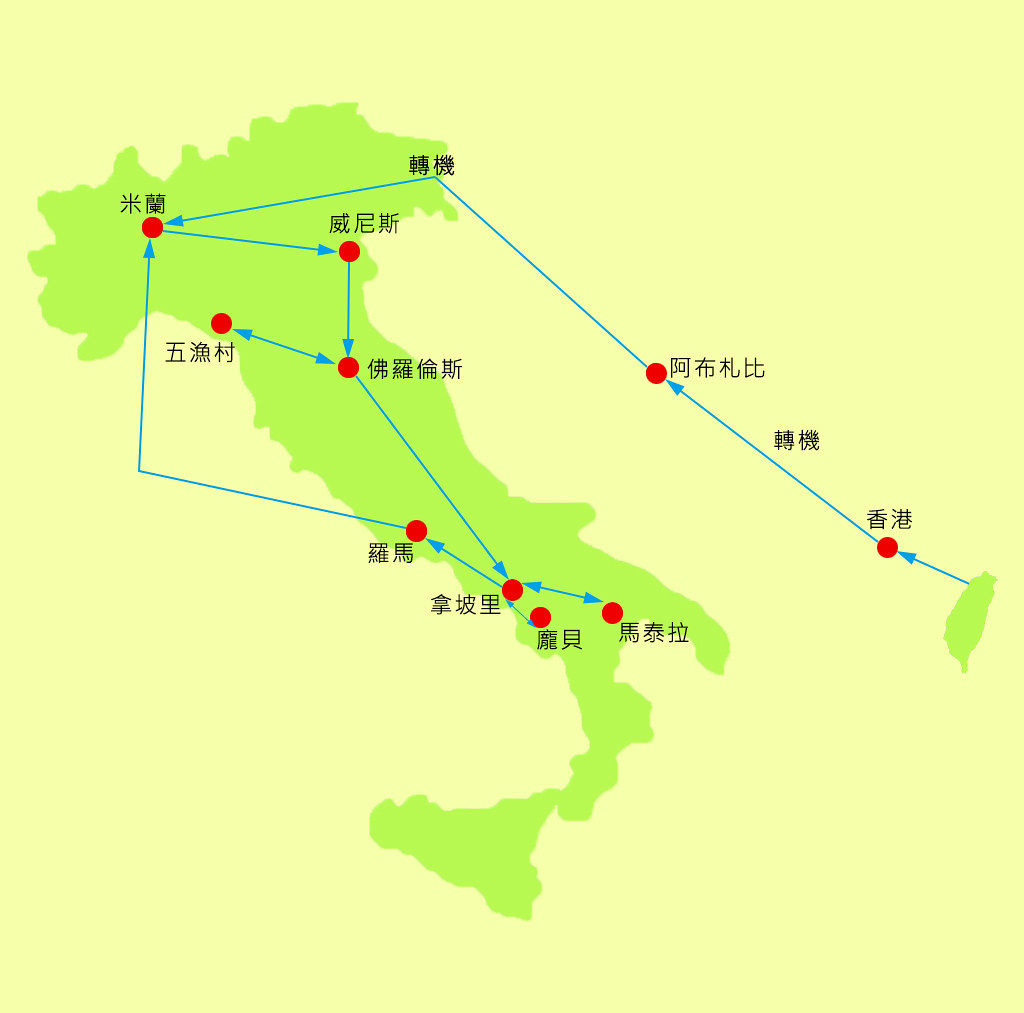 【義大利自由行推薦】10萬自助22天攻略 行程花費 機票交通 安全 住宿 天氣 行前注意資訊