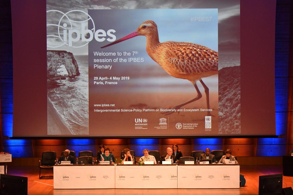 「跨政府生物多樣性與生態系服務平台」(Intergovernmental Science-Policy Platform on Biodiversity and Ecosystem Services,簡稱IPBES)在巴黎舉 行第七次全體會議。
