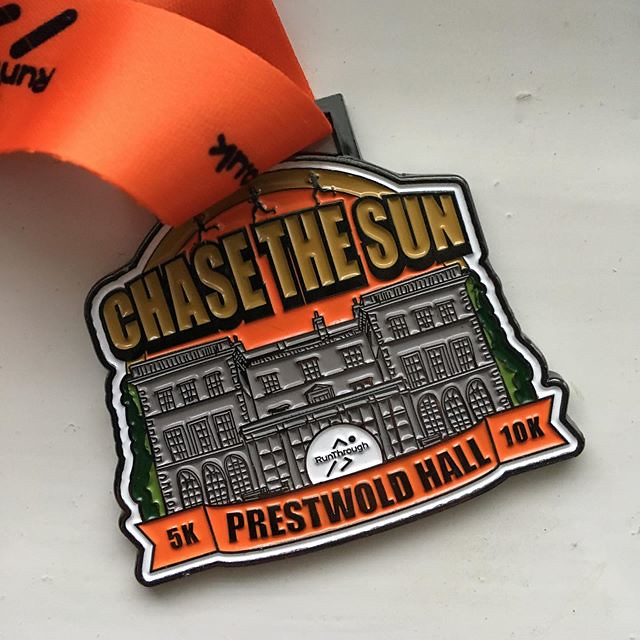 RunThrough Chase the Sun Leicestershire finishers medal
