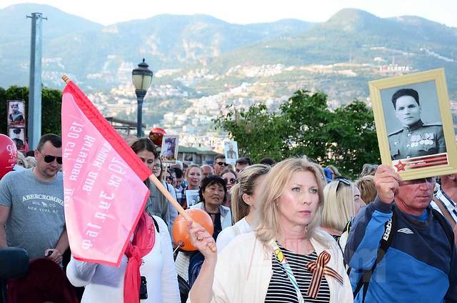 Alanya'daki Ruslar Zafer Günü'nü kutladı