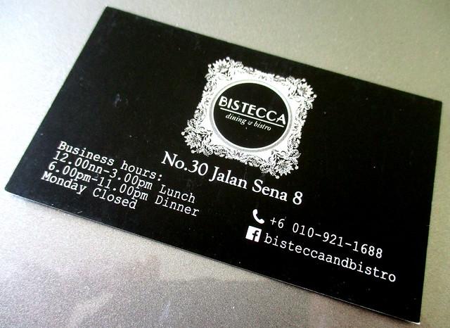 Bistecca business card