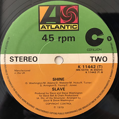 SLAVE:JUST A TOUCH OF LOVE(LABEL SIDE-B)