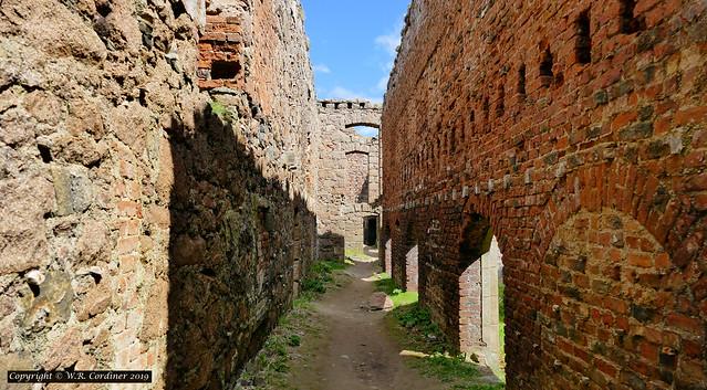 Inside New Slains Castle
