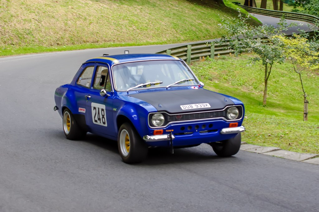 Ian Moss' Escort MK1 at Prescott (J Hallett)