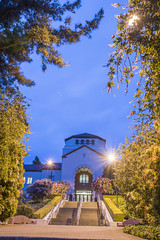 Founders Hall aglow