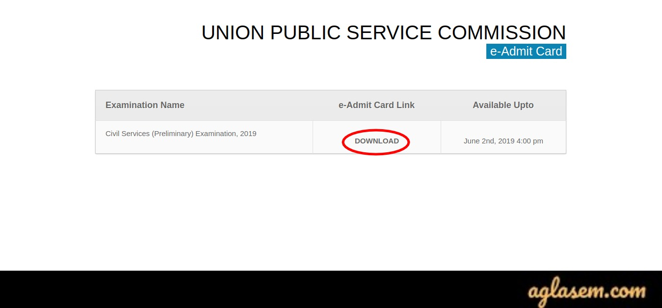 UPSC EPFO Enforcement Officer Admit Card 2020