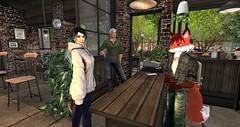 Mondrian, Al and I at HI-Cafe