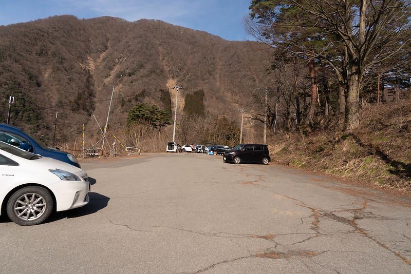 勝原スキー場跡の駐車場