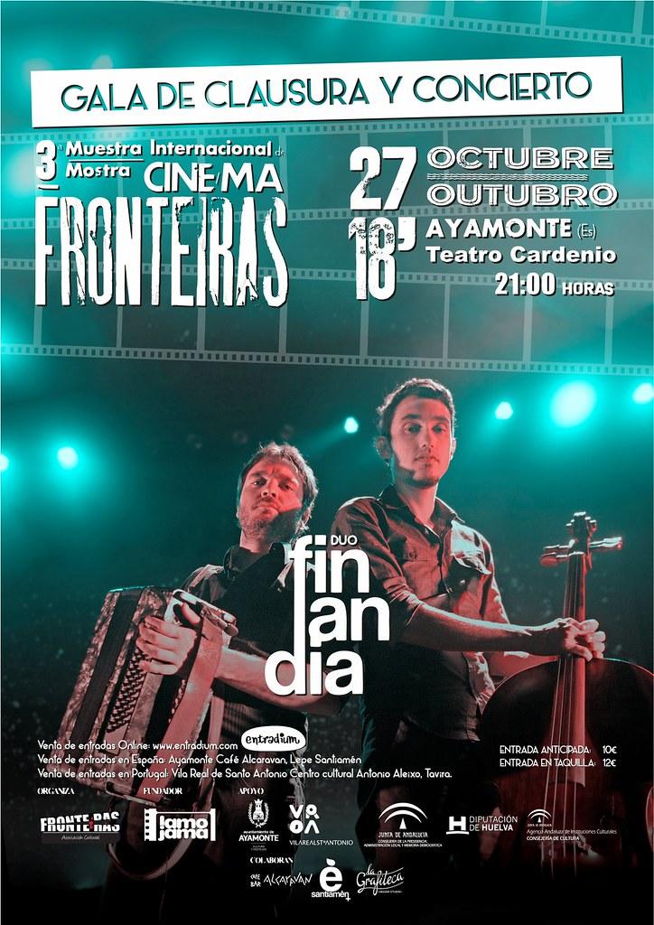 Cartel Concierto y Gala de Clausura 3ª Muestra Internacional de Cine FRONTEiRAS