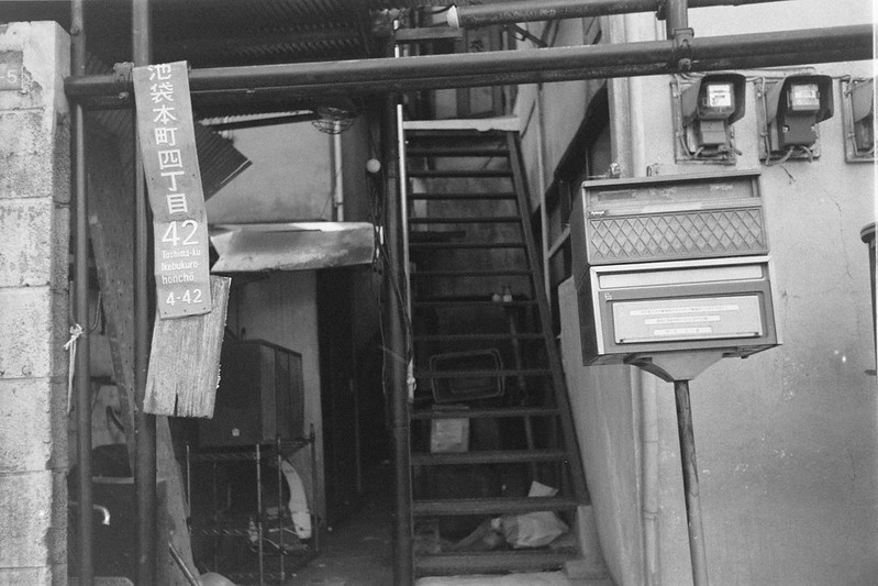248LeicaM2 Summaron 35mm f35 Kodak 400TX 池袋本町