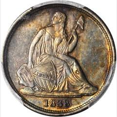 1838-O Liberty Seated Dime. No Stars obverse
