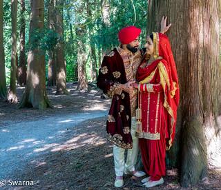 Punjabi bride & groom