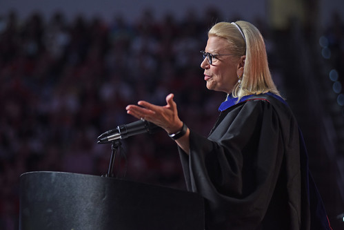 IBM CEO Ginni Rometty delivers her commencement address to the Class of 2019.