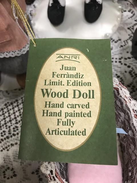 Doll tag: Anri Wooden doll