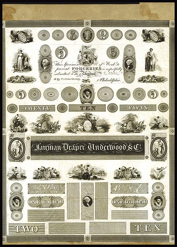 1824 Fairman, Draper, Underwood & Co Proof Ad Sheet