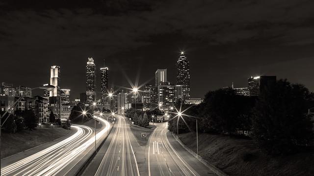Atlanta at night...