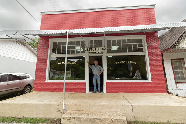 Gary Hancock, Gassaway Bank and Post Office (historic), Cannon County, Tennessee