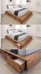 Zeitgenössisches minimalistisches Interieur Schlafzimmerdesign Vintage minimalistischen Dekor