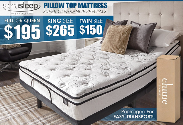 Sierra Pillow Top Clearance Sale Ad_M874_UPDATE