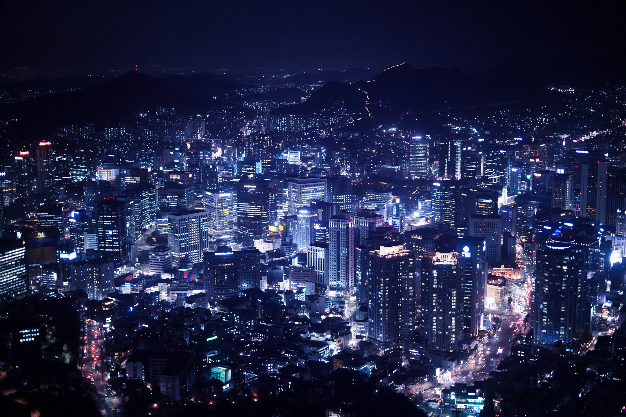 Seoul from Seoul Tower Night_effected